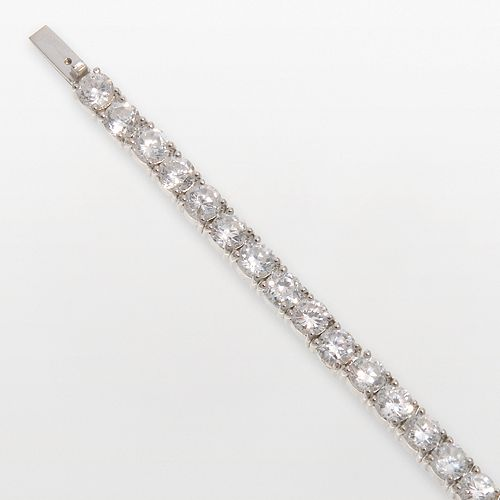 DiamonLuxe Sterling Silver 8 1/2-ct. T.W. Simulated Diamond Tennis Bracelet
