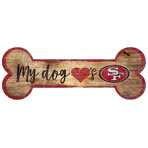 San Francisco 49ers Dog Bone Wall Sign