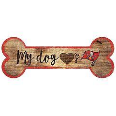 Tampa Bay Buccaneers Dog Bone Wall Sign