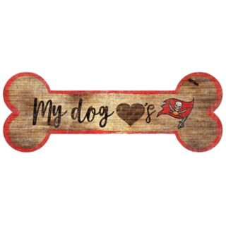 Tampa Bay Buccaneers Dog Bone Wall Sign