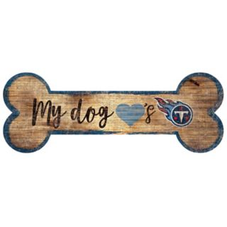 Tennessee Titans Dog Bone Wall Sign