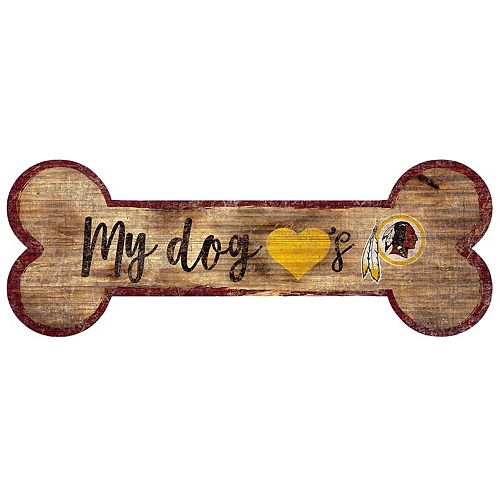 Washington Redskins Dog Bone Wall Sign