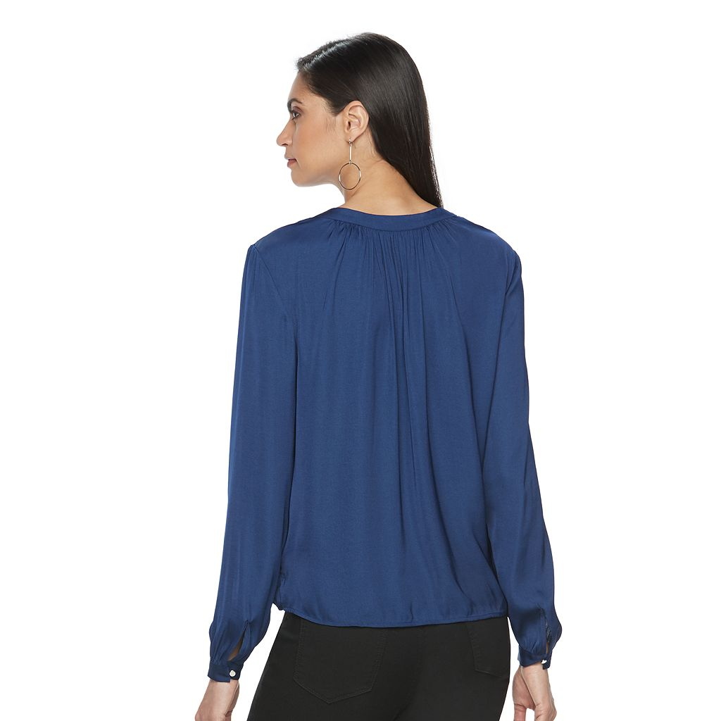 Women's Jennifer Lopez Surplice Popover Top