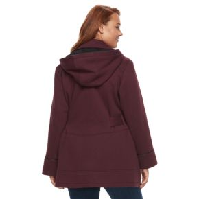 Plus Size d.e.t.a.i.l.s Double Breasted Fleece Jacket