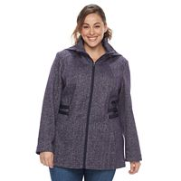 Plus Size d.e.t.a.i.l.s Hooded Side Tab Jacket