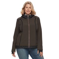 Plus Size Free Country Mock-Layer Soft Shell Jacket