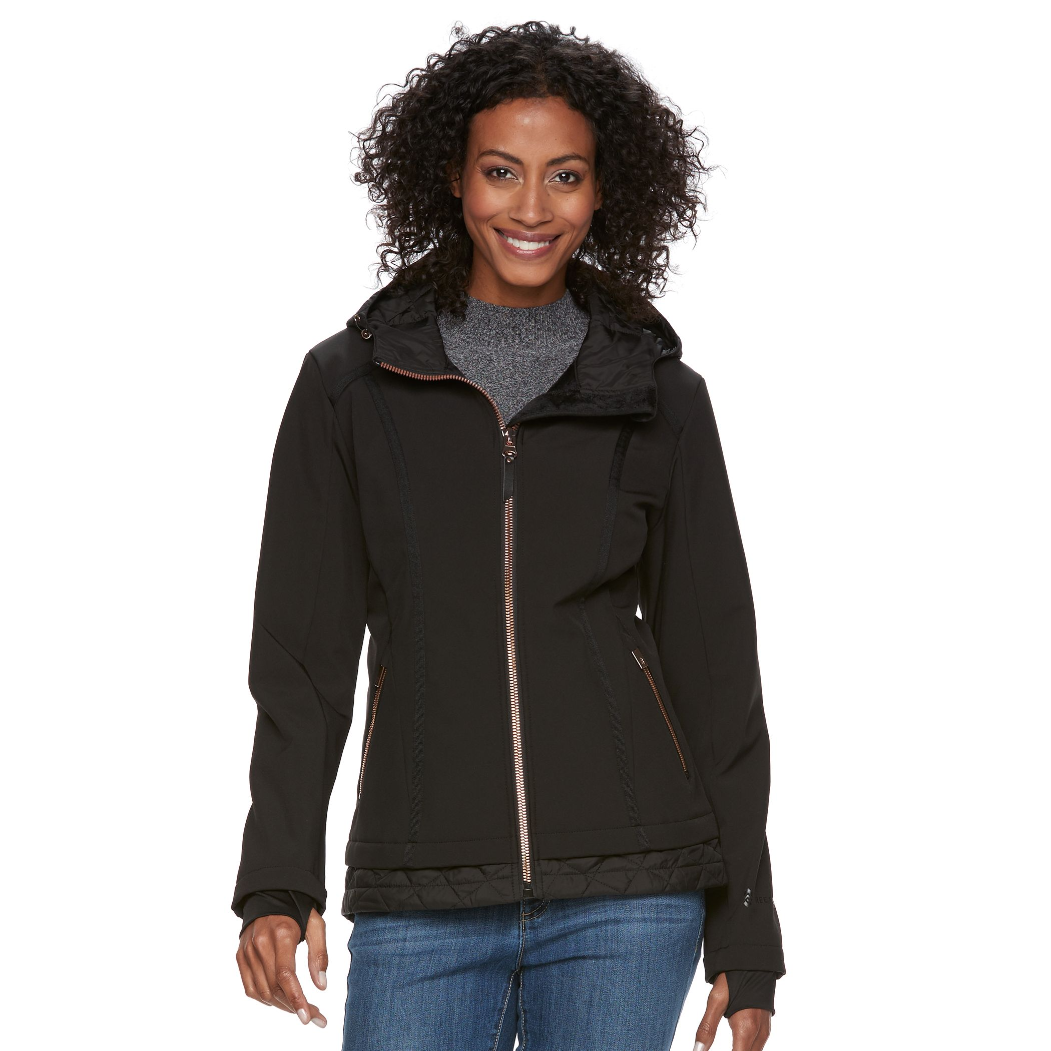 Free country womens jacket black