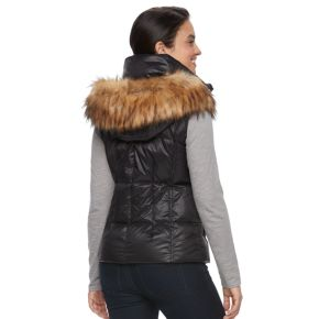 Women's S13 Snowcast Hooded Faux-Fur Trim Down-Fill Vest