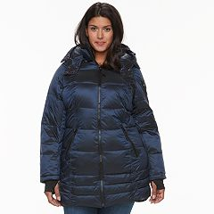 Plus Size Apt. 9® Hooded Puffer Jacket