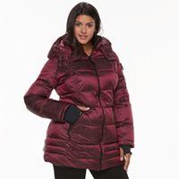 Plus Size Apt. 9® Hooded Puffer Jacket