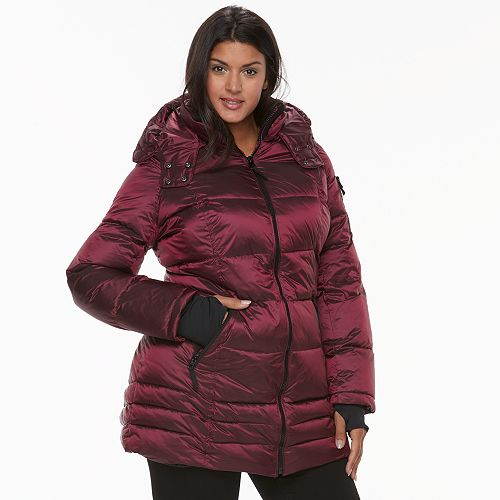 7657468a1 Plus Size Apt. 9® Hooded Puffer Jacket