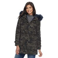 Women's Apt. 9® Hooded Faux-Fur Trim Cotton Parka