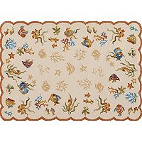 Couristan Outdoor Escape Coral Dive Shell Indoor Outdoor Rug
