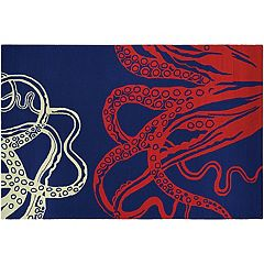Couristan Outdoor Escape Under the Sea Octopus Indoor Outdoor Rug