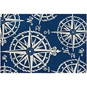 Couristan Outdoor Escape Mariner Compass Indoor Outdoor Rug