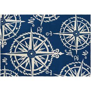 Couristan Outdoor Escape Mariner Compass Indoor Outdoor Rug