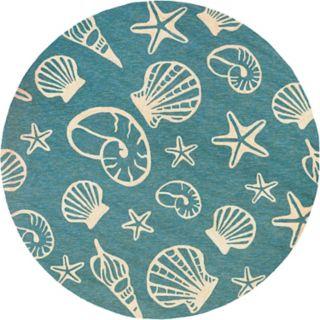 Couristan Outdoor Escape Cardita Shells Indoor Outdoor Rug