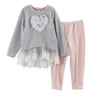 Baby Girl Nannette Heart Ruffle Top & Leggings