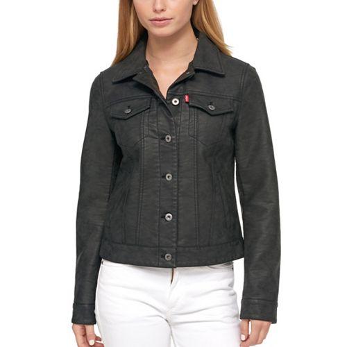 Women's Levi's Classic Faux Leather Trucker Jacket