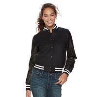 Women's Levi's® Faux-Leather Wool Blend Bomber Jacket