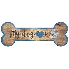 Philadelphia 76ers Dog Bone Wall Sign