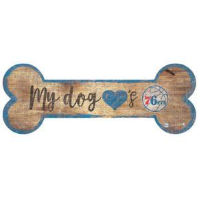 Philadelphia 76ers Dog Bone Wall Sign