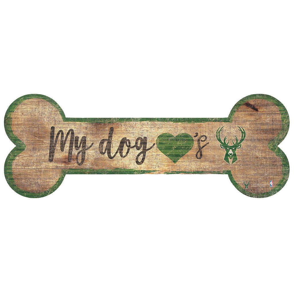 Milwaukee Bucks Dog Bone Wall Sign