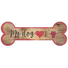 Chicago Bulls Dog Bone Wall Sign