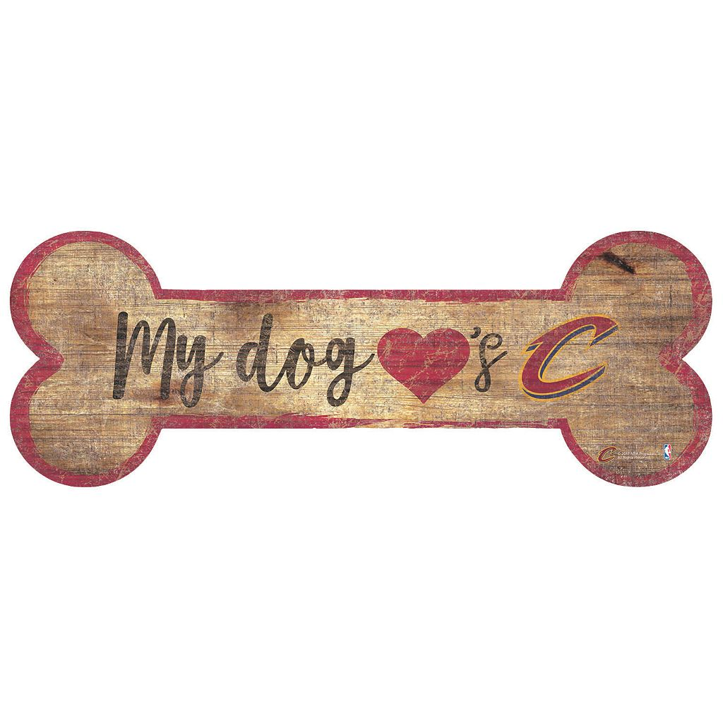 Cleveland Cavaliers Dog Bone Wall Sign