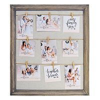New View Farmhouse Fashion Collage Frame & Clothes Pin 10-piece Set
