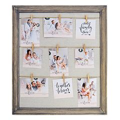 New View Farmhouse Fashion Collage Frame & Clothes Pin 10 pc Set