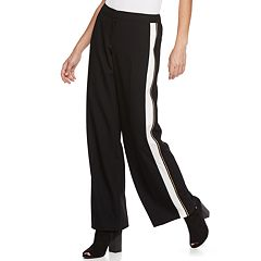 Women's Apt. 9® Tuxedo Stripe Wide-Leg Pants