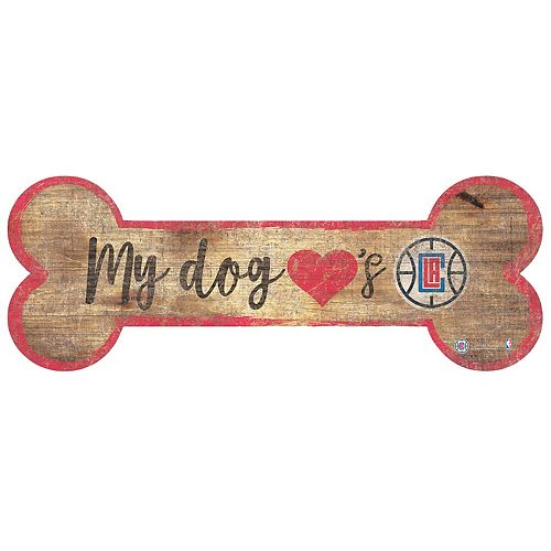 Los Angeles Clippers Dog Bone Wall Sign