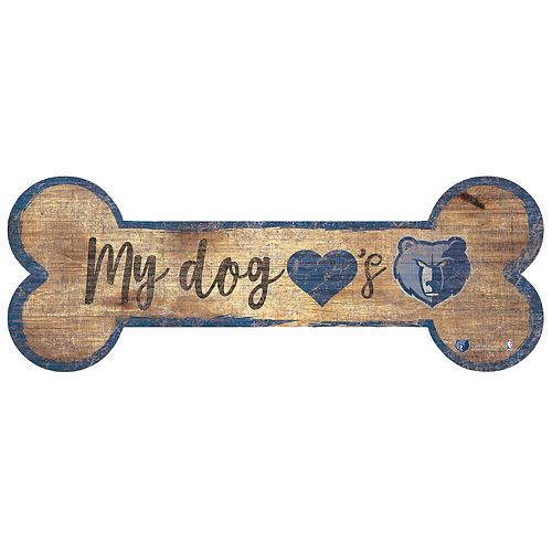 Memphis Grizzlies Dog Bone Wall Sign