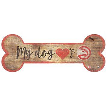 Atlanta Hawks Dog Bone Wall Sign