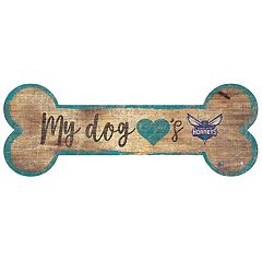 Charlotte Hornets Dog Bone Wall Sign