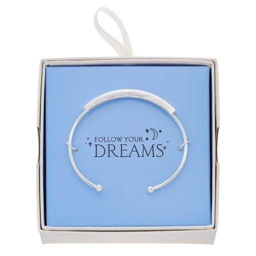 """Follow Your Dreams"" Cuff Bracelet"