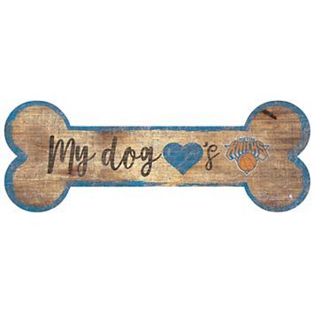 New York Knicks Dog Bone Wall Sign