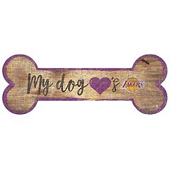 Los Angeles Lakers Dog Bone Wall Sign