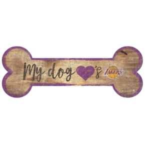 Los Angeles Lakers Dog Bone Wall Sign
