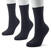 SONOMA Goods for Life™ 3-pk. Ribbed Crew Socks