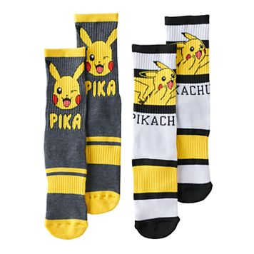 Boys 2-Pack Pokemon Pikachu Crew Socks