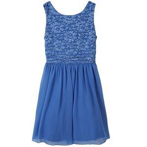 Girls 7-16 Speechless Sequin Bodice Chiffon Dress