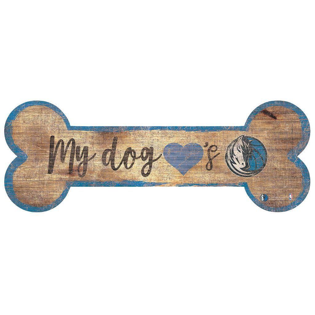 Dallas Mavericks Dog Bone Wall Sign