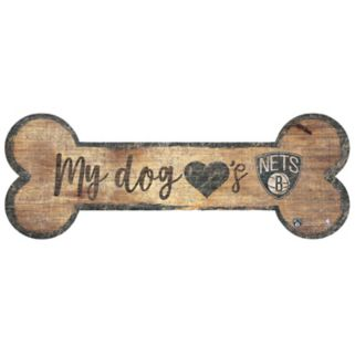 Brooklyn Nets Dog Bone Wall Sign