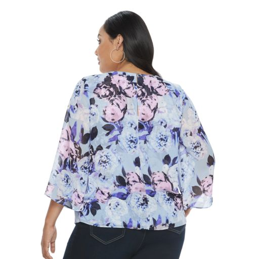 Plus Size Jennifer Lopez Surplice Faux-Wrap Top