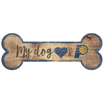 Indiana Pacers Dog Bone Wall Sign