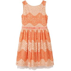 Girls 7-16 Speechless Two-Tone All-Over Lace Dress
