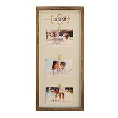 New View 'Love You More' 3-Opening Photo Clip Fashion Collage Frame