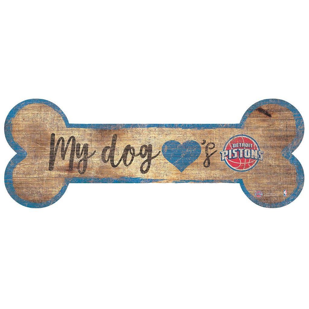 Detroit Pistons Dog Bone Wall Sign